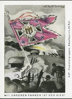 Nazi propaganda series, With our flag is victory