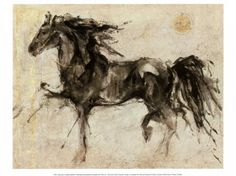 I love the motion of the horse and the texture of the background. The seal in the upper right is a nice touch.