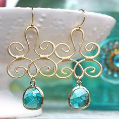 India Peacock Earrings