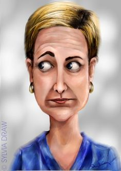 nurse jackie  ..FOLLOW THIS BOARD FOR GREAT CARICATURES OR ANY OF OUR OTHER CARICATURE BOARDS. WE HAVE A FEW SEPERATED BY THINGS LIKE ACTORS, MUSICIANS, POLITICS. SPORTS AND MORE...CHECK 'EM OUT!!