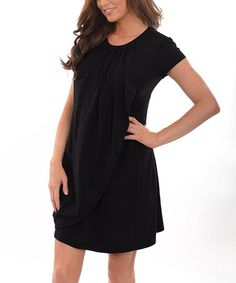 Another great find on #zulily! Black Drape Maternity/Nursing Dress #zulilyfinds