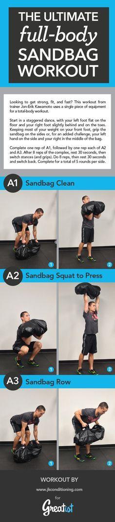 Sandbag Workout: The Ultimate Full-Body Sandbag Training Plan Training Plan, Strength Training, Dog Training, Trx, Fit Girl Motivation, Fitness Motivation, Fitness Tips, Health Fitness, Fitness Works