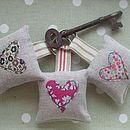 Liberty Fabric Appliqued Key Ring - handbag essentials