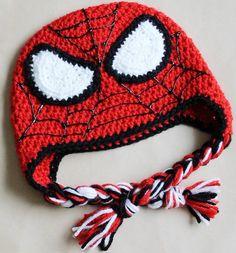 Crochet el sombrero de Spiderman. Diferentes por HandmadebyKayley