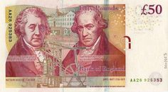 #onthisday, 17/08 1809 Matthew Boulton died. He is featured on the current £50 series F #banknote.