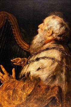 Peter Paul Rubens, König David spielt die Harfe (King David playing the harp) Peter Paul Rubens, Rembrandt, Pedro Pablo Rubens, Roi David, Rubens Paintings, Städel Museum, Baroque Art, Baroque Painting, Biblical Art