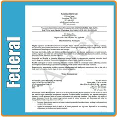 federal job resume cover letter