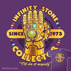 Stone Collector   Shirtoid #atomicrocket #comic #comics #film #infinitygauntlet #marvelcomics #movie #supervillain #thanos