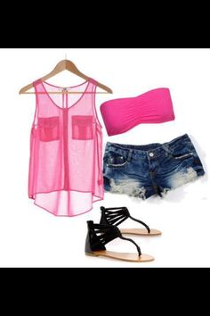 Summer summer outfits outfits for summer clothes summer clothes Cute Summer Outfits, Summer Wear, Outfits For Teens, Casual Outfits, Girl Outfits, Cute Outfits, Fashion Outfits, Summer Clothes, Pink Summer