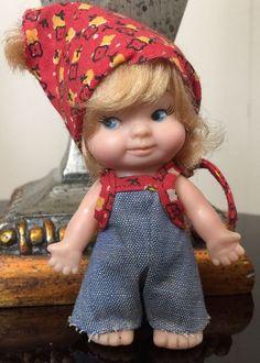 """1965 Vintage Uneeda ~ PEE WEE ~ Doll 3"""" Original Outfit ~"""