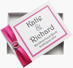 'Divine Diamante' - Satin ribbon guest book bound with a diamanté buckle