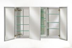"""Afina Broadway Triple Door Medicine Cabinet 48"""""""