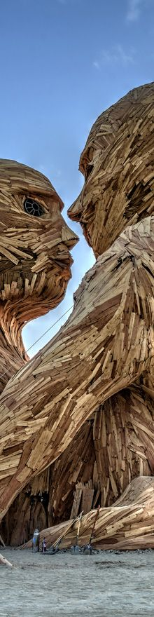 A New Embrace - Burning Man Photography by Cliff Baise