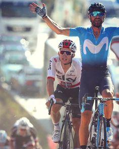 Alejandro Valverde wins Stage 2 La Vuelta 2018 credit @michael.steele_ Getty Images Michael Steele, Pro Cycling, Stage, La Vuelta, Biking