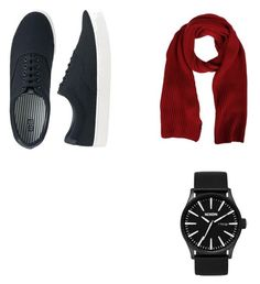 """Untitled #7"" by vivitheofil on Polyvore featuring Uniqlo, Nixon, MSGM, men's fashion and menswear"
