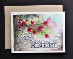 Hand Painted Watercolor card Faith by sanketi on Etsy