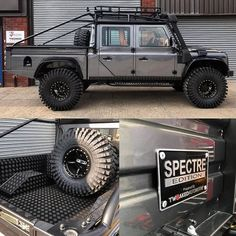 Some more shots of our latest build 👌 Land Rover Defender Pickup, Land Rover Defender 130, Landrover Defender, Custom Trucks, Pickup Trucks, Pick Up, Off Road Adventure, Suzuki Jimny, Expedition Vehicle
