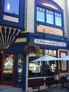 Marmalade Cat Cafe in Kelowna, BC Chicken Pesto Panini, Cat Cafe, Marmalade, Canada, Cats, Places, Outdoor Decor, Gatos, Cat