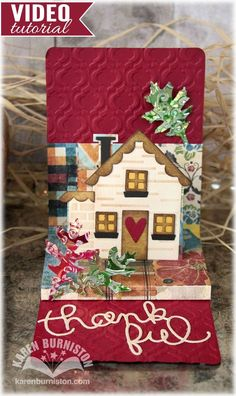 Project Ideas for Sizzix - Snippets Collection - Pop 'n Cuts Magnetic - Die Cutting Template - Pop-Up - House Thanksgiving Cards, Holiday Cards, Cute Cards, Diy Cards, Tarjetas Pop Up, Pop Up Box Cards, Elizabeth Craft Designs, Up House, Homemade Cards