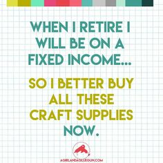 The funniest Craft memes! - A girl and a glue gun The funniest Craft memes! - A girl and a glue gun Original article and pictures take h. Craft Quotes, Cute Quotes, Funny Quotes, Sewing Humor, Quilting Quotes, Sewing Quotes, Scrapbook Quotes, Crochet Humor, I Love To Laugh