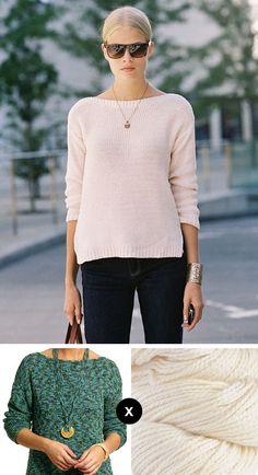 How to knit Franziska Frank's ivory pullover