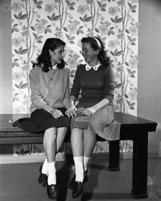 """Bobby Soxers"" was the name given to teenage girls that wore ankle socks very often during the 1940's."