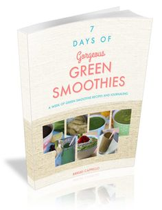 7DaysCover3D 350 Yummy Smoothies, Juice Smoothie, Smoothie Recipes, Get Healthy, New Recipes, Cleanse, Detox, Day, Green