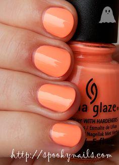 China Glaze Sun Of A Peach (+topcoat)