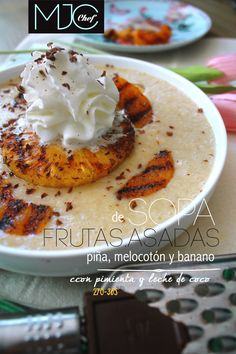 Fruits grill soup (#270) with coconut milk