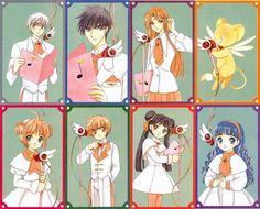 CLAMP, Cardcaptor Sakura, Mizuki Kaho, Li Syaoran, Tsukishiro Yukito, Kero-chan
