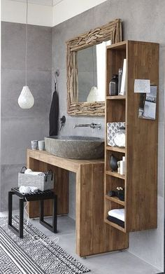 trendy bathroom small sink home Very Small Bathroom, Small Space Bathroom, Small Room Bedroom, Small Spaces, Small Sink, Small Baths, Bathroom Interior Design, Interior Design Living Room, Bathroom Vanity Storage