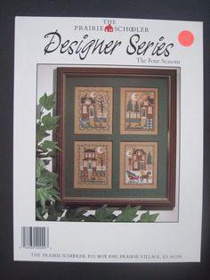 The Prairie Schooler Four Seasons Designer Series Cross Stitch Pattern Card #ThePrairieSchooler #CrossStitchPatternCard