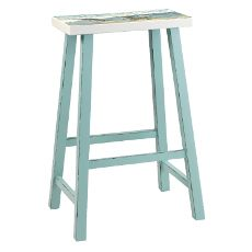 Beach Island Bar Stool Sky Blue With Seat Painting Set of 2