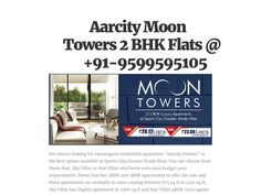 Aarcity Moon Towers 2 BHK Flats @ +91-9599595105