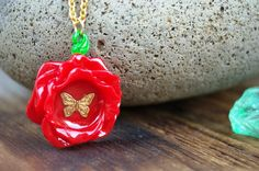 Beauty and the Beast Inspired Necklace Kid by FishesGiveKisses