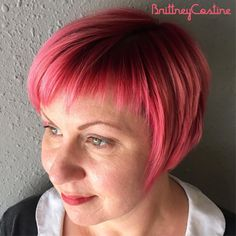 """32 Likes, 6 Comments - Brittney Costine (@heystellavintagesalon) on Instagram: """"Fringe life 💕Love this asymmetric micro bang and short bob #microbang #bobhaircut #stpete…"""""""