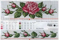 Crossstitch rose paternt