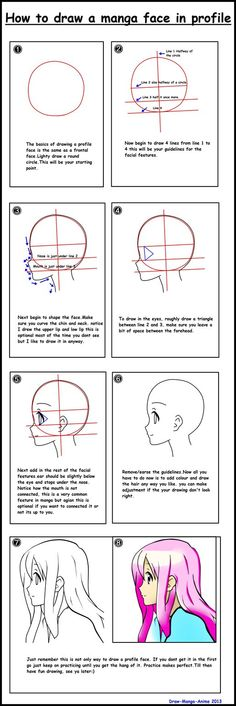 How to draw a manga face in profile. by Draw-Manga-Anime on DeviantArt