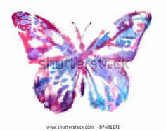 stock photo : Watercolor Butterfly