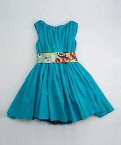 Aqua Degas Dress - Toddler & Girls by Llum #zulily #zulilyfinds