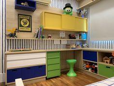 Mak Studio » Quarto de dinossauros Dorm Room Layouts, Maker, Boy Room, Kids Bedroom, Room Decor, Interior Design, House, Furniture, Bernardo