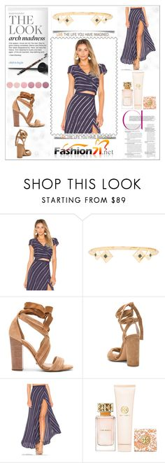 """WRAP IT UP SKIRT"" by amra-2-2 ❤ liked on Polyvore featuring Flynn Skye, House of Harlow 1960, Schutz, Steve Madden, Tory Burch and Deborah Lippmann"