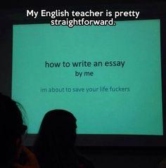 Pretty awesome English teacher