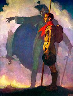 1932 Norman Rockwell Le Scout Est Loyal Scout is Loyal Huile Sur Toile Cm Norman Rockwell Art, Norman Rockwell Paintings, Vintage Comics, Vintage Posters, George Washington Painting, Scouts Of America, Eagle Scout, Boy Scouts, American Artists