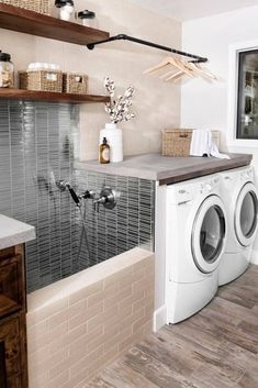 Smart Farmhouse Laundry Room Storage Organization Ideas - House Topics - Home - . Smart Farmhouse Laundry Room Storage Organization Ideas – House Topics – Home – Home Design, Design Ideas, Design Trends, Design Room, Design Inspiration, Laundry Room Inspiration, Farmhouse Laundry Room, Inspire Me Home Decor, Laundry Room Storage