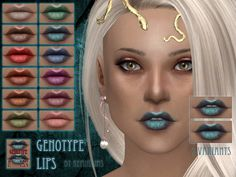 Lipstick for the Sims 4! Any ideas and criticism are requested :)  Found in TSR Category 'Sims 4 Female Lipstick'