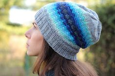 This slouchy hat pattern is a bonus as part of the Coolbreeze Cardigan pattern.