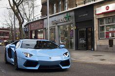 Baby Blue, Aventador, Lamborghini