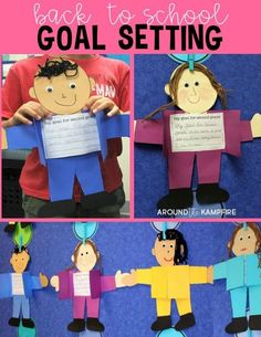 Back to School Goal Setting Craft Setting learning goals at the beginning of a new school year helps keep students motivated and gives the teacher valuable insight into where they can offer extra support. These goal setting kids are a fun activity for the Back To School Art, Back To School Night, 1st Day Of School, Beginning Of The School Year, Back To School Crafts For Kids, School Goals, Student Goals, First Week Activities, Activities For Kids