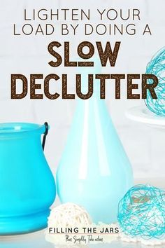 I've decluttered more than 800 items in less than two months with NO stress and NO mess. Learn more about the Slow Declutter method, and why it's perfect for overwhelmed overthinkers… #simplify #organizing #tidyhouse #decluttering #minimalism #organizedhome #lifehacks #declutter #simpleliving #mindfulness #declutterhabit #intentionalliving #overwhelmedoverthinker #buildyourbestlife #ftj